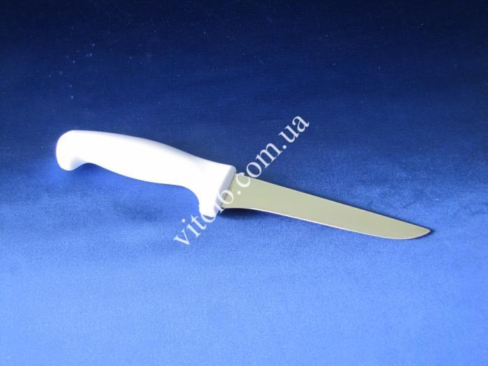 Ніж з білою ручкою 15,5см  24617/086  VT6-15326 узкий (240шт)