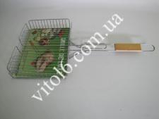 Барбекю №504 с деревян. ручкой LUX  высокое (18шт)