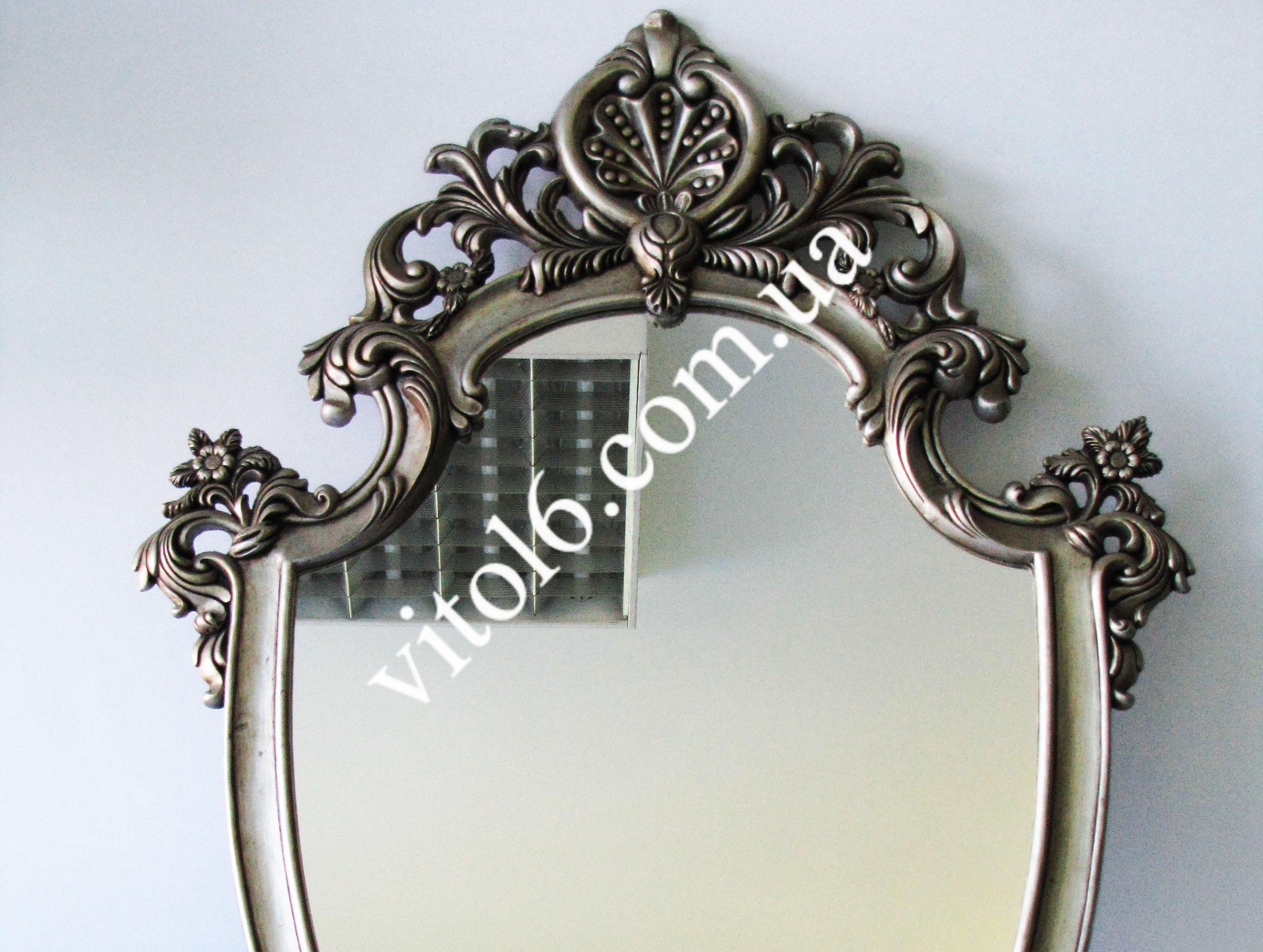 MD-003 Зеркало 1060*760 овал с фигурн.вставкой