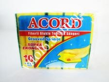 Губка  Accord  для посуды из 10-ти код 371(384уп.)