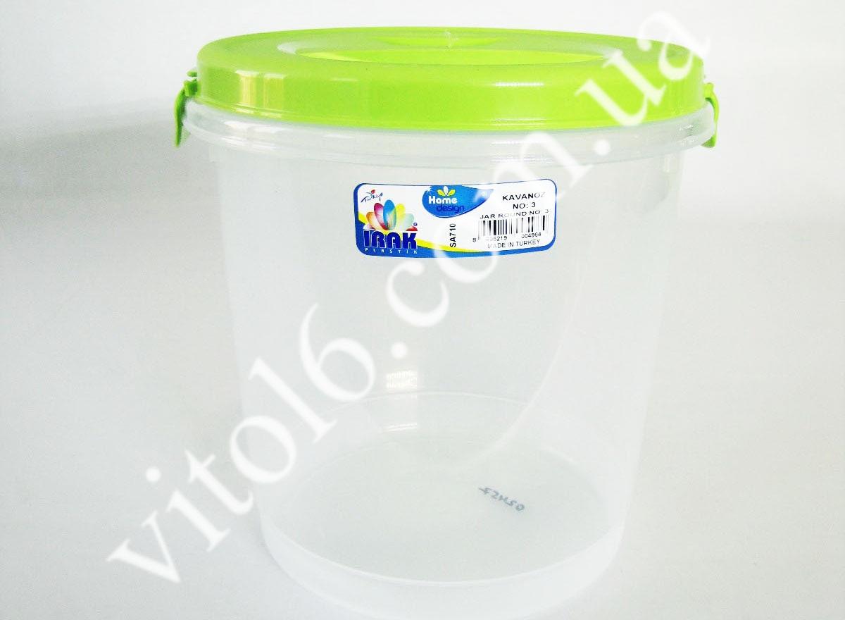 Емкость для сыпучих с крышкой SA -710  6л (24шт)