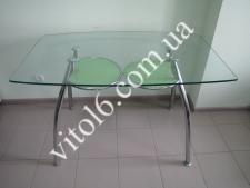 Стол стекло D323  1257*75 с зеленой полкой
