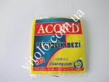 Салфетка жёлтая из 3-х  35х37 ACORD (20 шт)