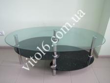 Стол журн.стекло LIF008 3805 110*60 капля черная