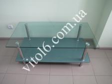 Стол журн.стекло LF049   3806 110*60 капля+серебро