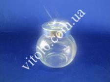 Баночка скляна для спецій з кришкою 10см 200мл  VT6-12410 (144шт)