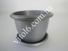 Кашпо цветочное металлик О14 VT6-12298 (180шт)