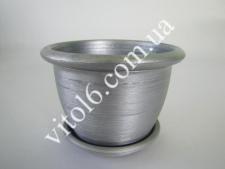 Кашпо цветочное металлик О16 VT6-12299 (120шт)
