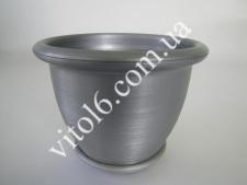 Кашпо цветочное металлик О19 VT6-12301 (90шт)