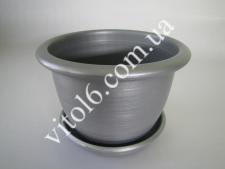 Кашпо цветочное металлик О27 VT6-12303 (50шт)