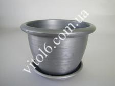 Кашпо цветочное металлик О23 VT6-12302 (60шт)