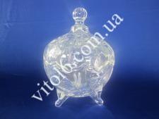 Конфетница стекло с крышкой VT6-13318 (12шт)