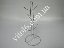Стійка нерж.для 6-ти чашок  Скоба  38см VT6-13087 (100шт)