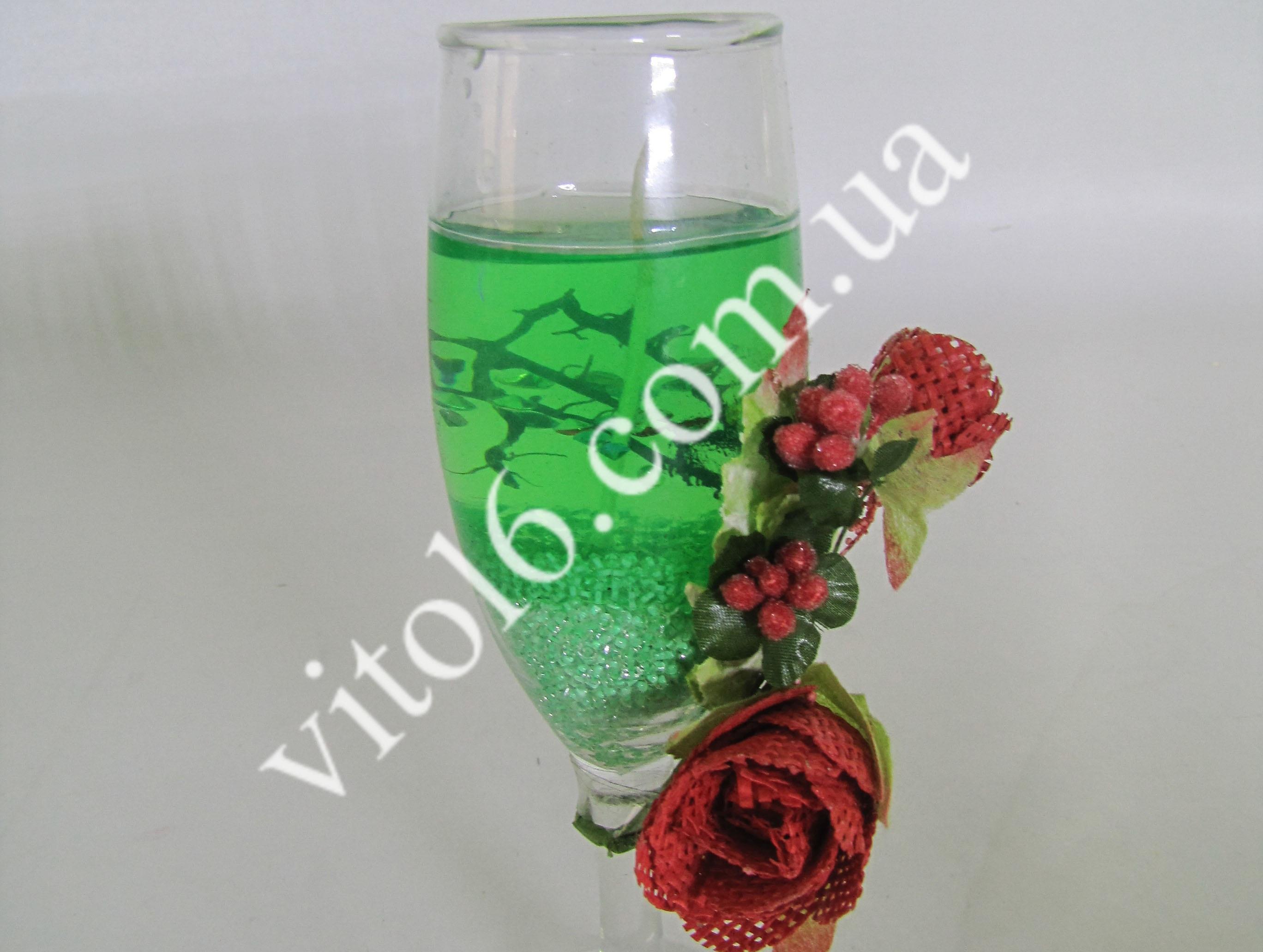 Свеча обычная гелевая  Фужер VT6-13467-1(98шт)