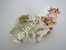 Пепельница Бык(2вида)VT6-13572(192шт)