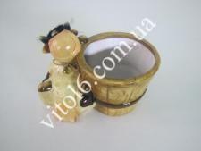 Кашпо цветочное с быком(2вида)VT6-14046(24шт)