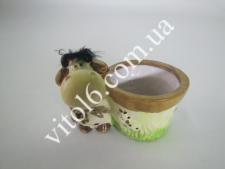 Кашпо цветочное с быком(2вида)VT6-14047(60шт)