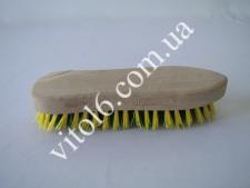 Щётка с деревян. руч. жёсткая(12шт)