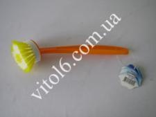 Щётка с ручкой ТР-124 для посуды круглая (72 шт)