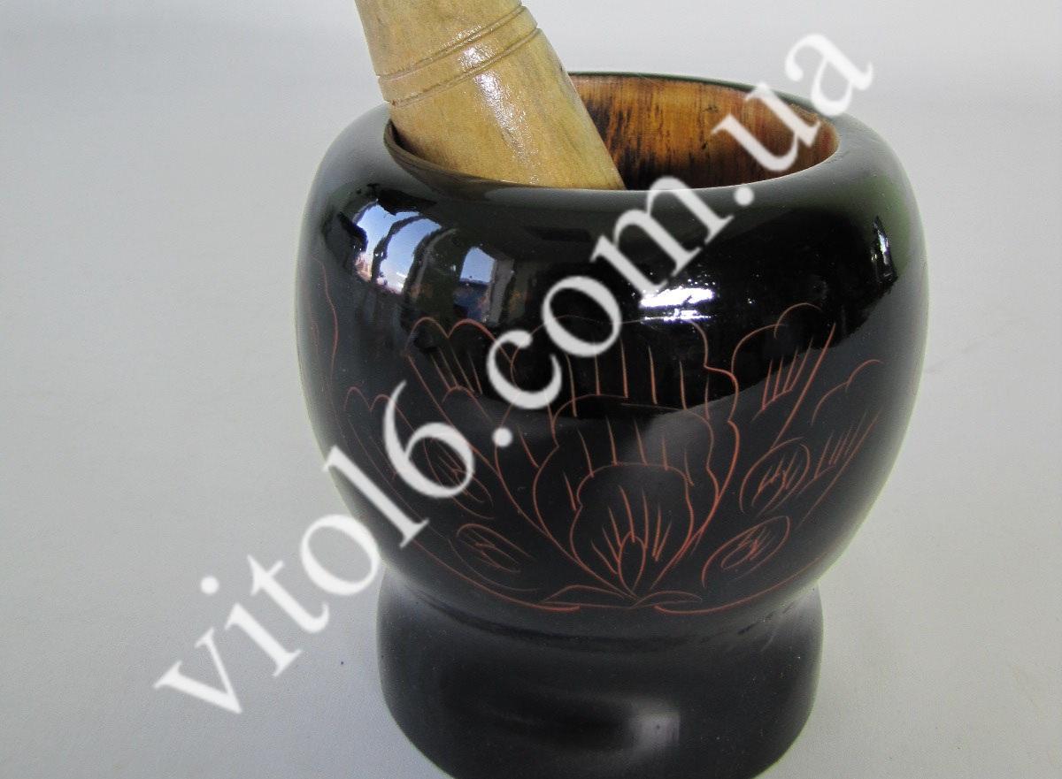 Ступка деревянная лаковая10*10 VT6-13665-1(60шт)