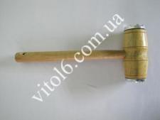 Молоток дерев.лаков.с алюм.вставк.VT6-14172(120шт)