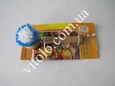 Щетка деревян.с ручкой 13,5см№7 VT6-14144(144шт)