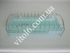 Сушарка нерж. для тарілок з піддоном 41,5*18*10  VT6-14367(40шт)