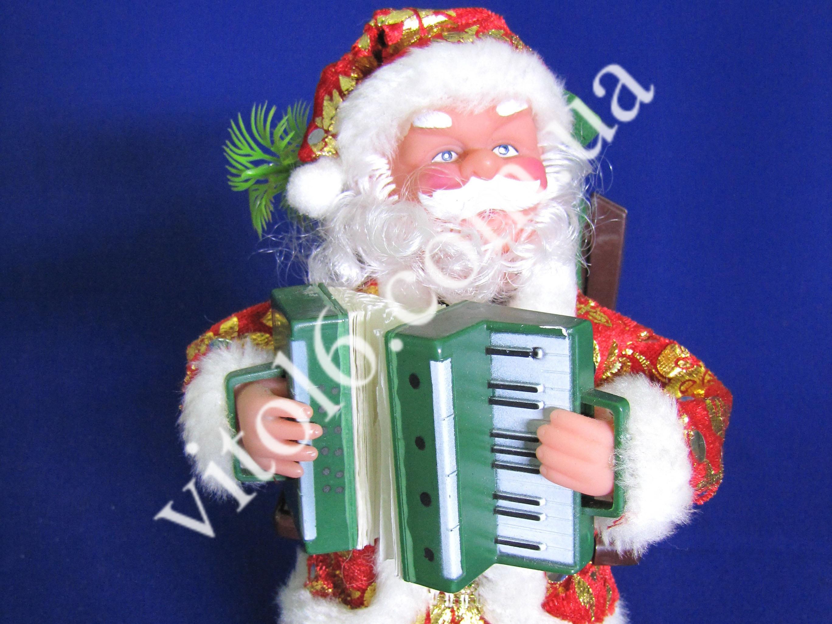 Дед Мороз в кресле с гармошкойVT6-14438(48шт)