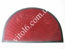 Коврик  Welcom 40*60 серый полукруг   VT6-14088(25шт)