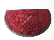 Коврик  Welcom 50*80 полукруг (зел,коричн,син)VT6-14093(25шт)