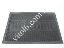 Коврик  Welcom 40*60 черный VT6-14095(25шт)