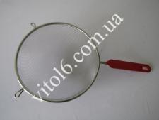 Сито нерж с красной ручкой О12см VT6-14652(200)