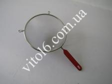 Сито нерж с красной ручкой О16см VT6-14654(200)