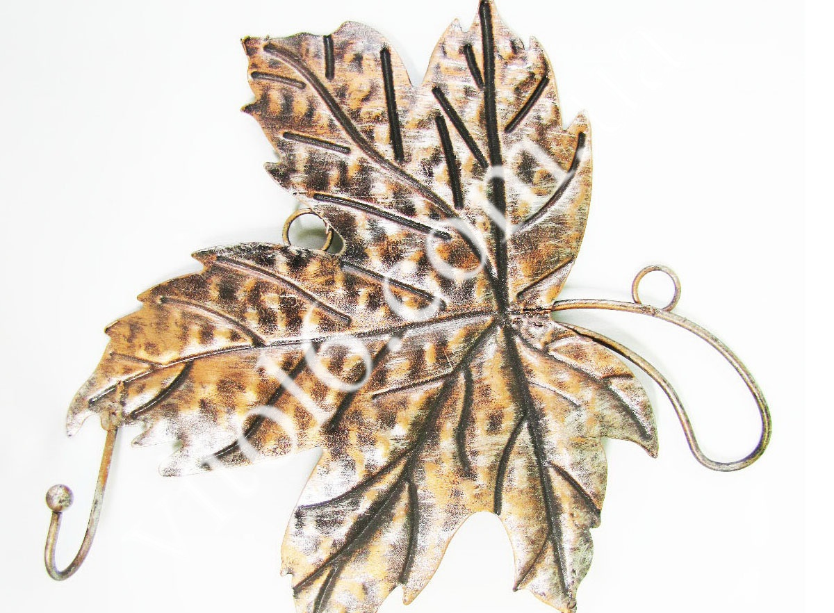 Вешалка Кленовый лист на3-ри крючкаVT6-14406(80шт)
