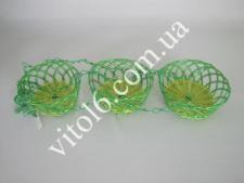 Кашпо пластм+соломка подвесноеVT6-14209(100шт)
