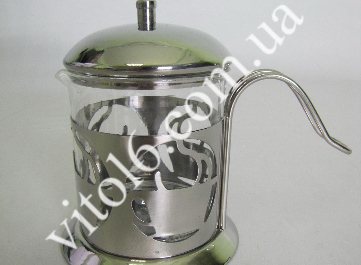 Молочник стекло+металл   VT6-14589(60)