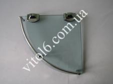 Полка угловая стекло А02  200мм (60шт)
