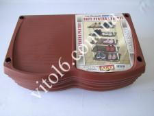 Полка обувная  INCI  коричневая 142 (6шт)