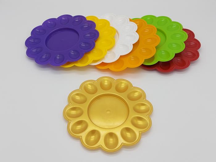 Тарелка пасхальная пластмассовая (100шт)
