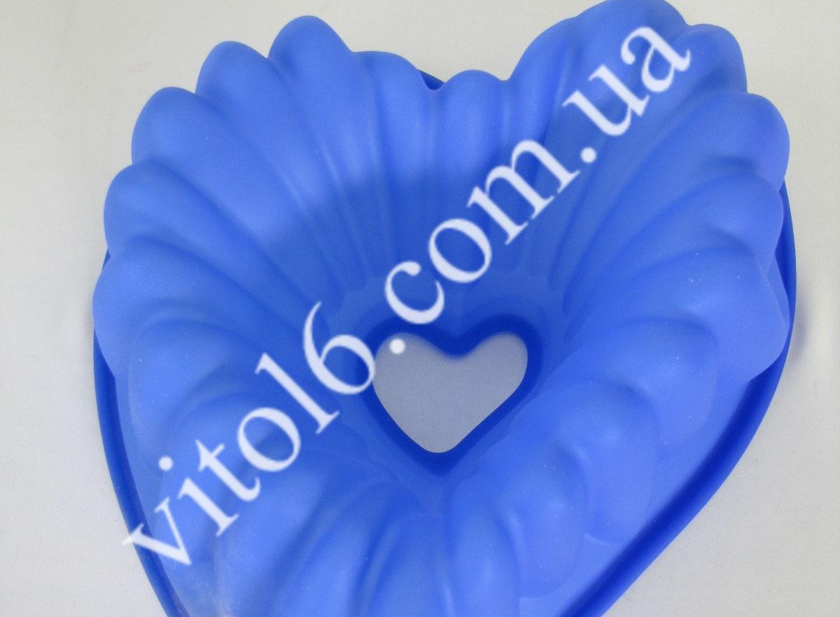 Форма силик. Сердце  27*29*10 VT6-14699(100шт)