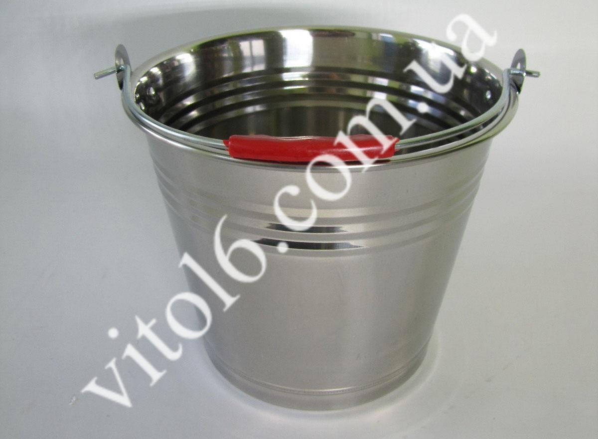 Ведро нерж без крышки 10л VT6-14790(30шт)