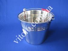 Ведро нерж без крышки 8л VT6-14791(30шт)