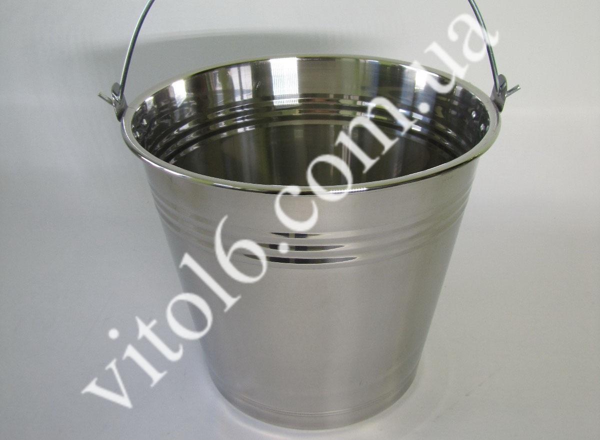 Ведро нерж без крышки 14л VT6-14793(30шт)