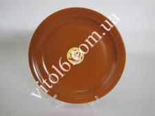 Тарелка мелкая  глина  25см В Brown (24 шт)