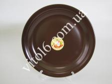 Тарелка мелкая  шоколад   25см С (24 шт)