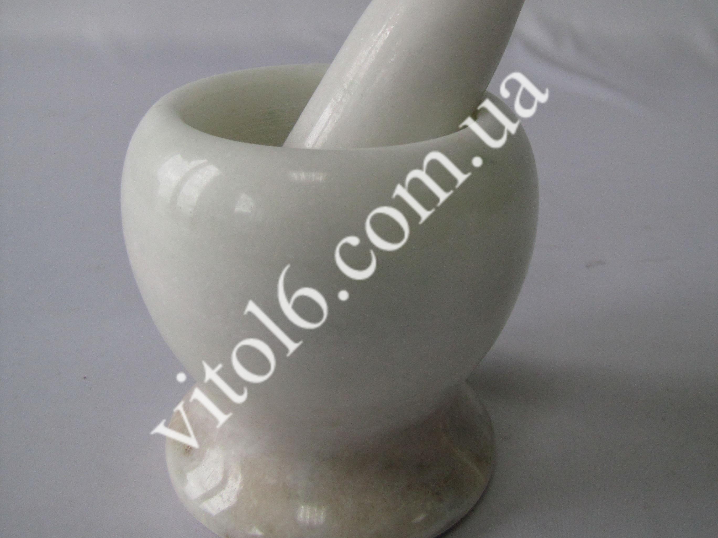 Ступка мраморная белая 10*10 VT6-15198(12шт)