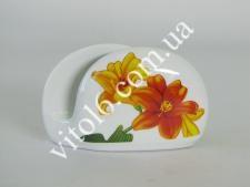 Салфетница керамич. Лилии 7446 (96шт)