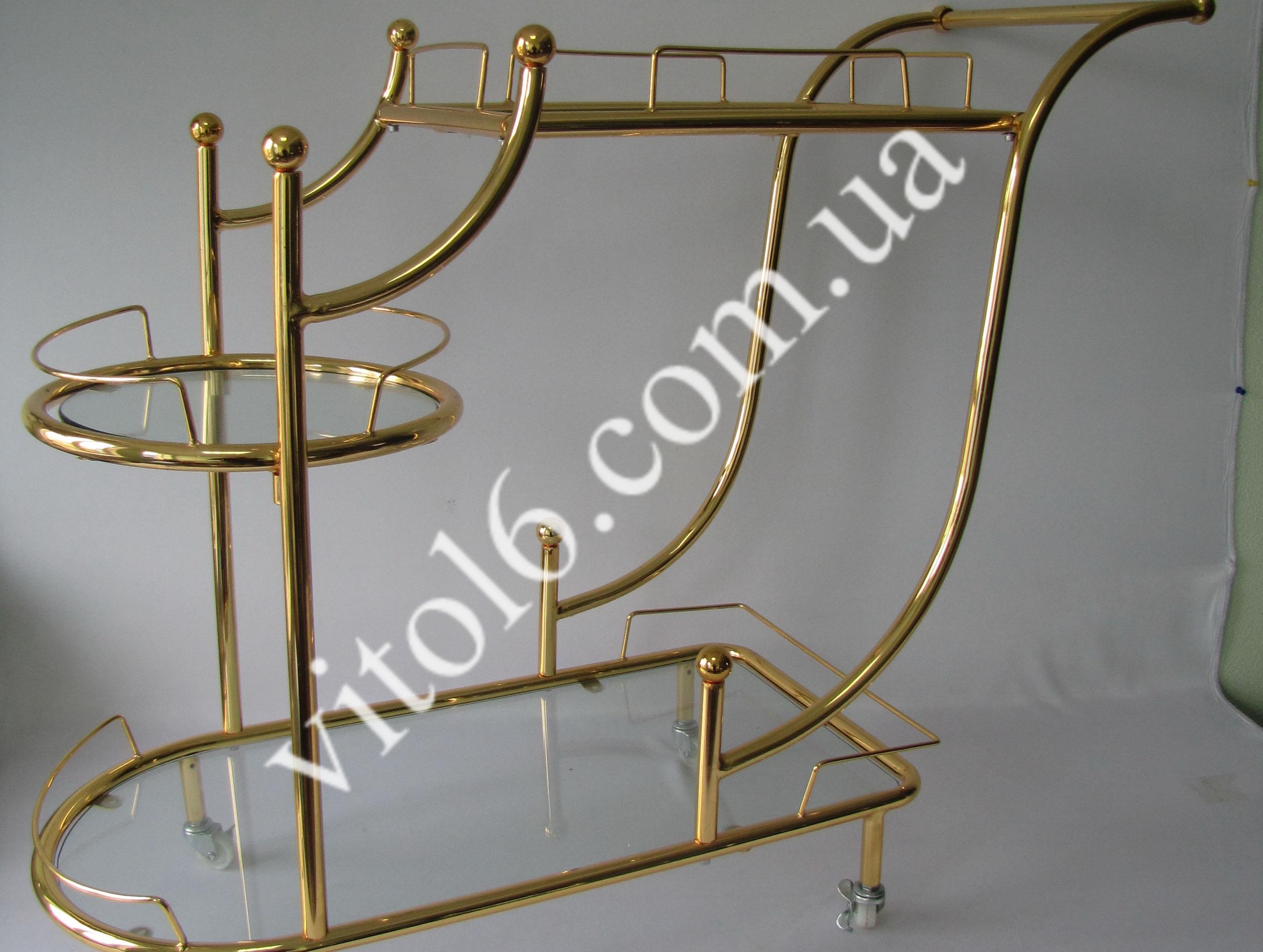 Сервировочный столик  D-015A золото