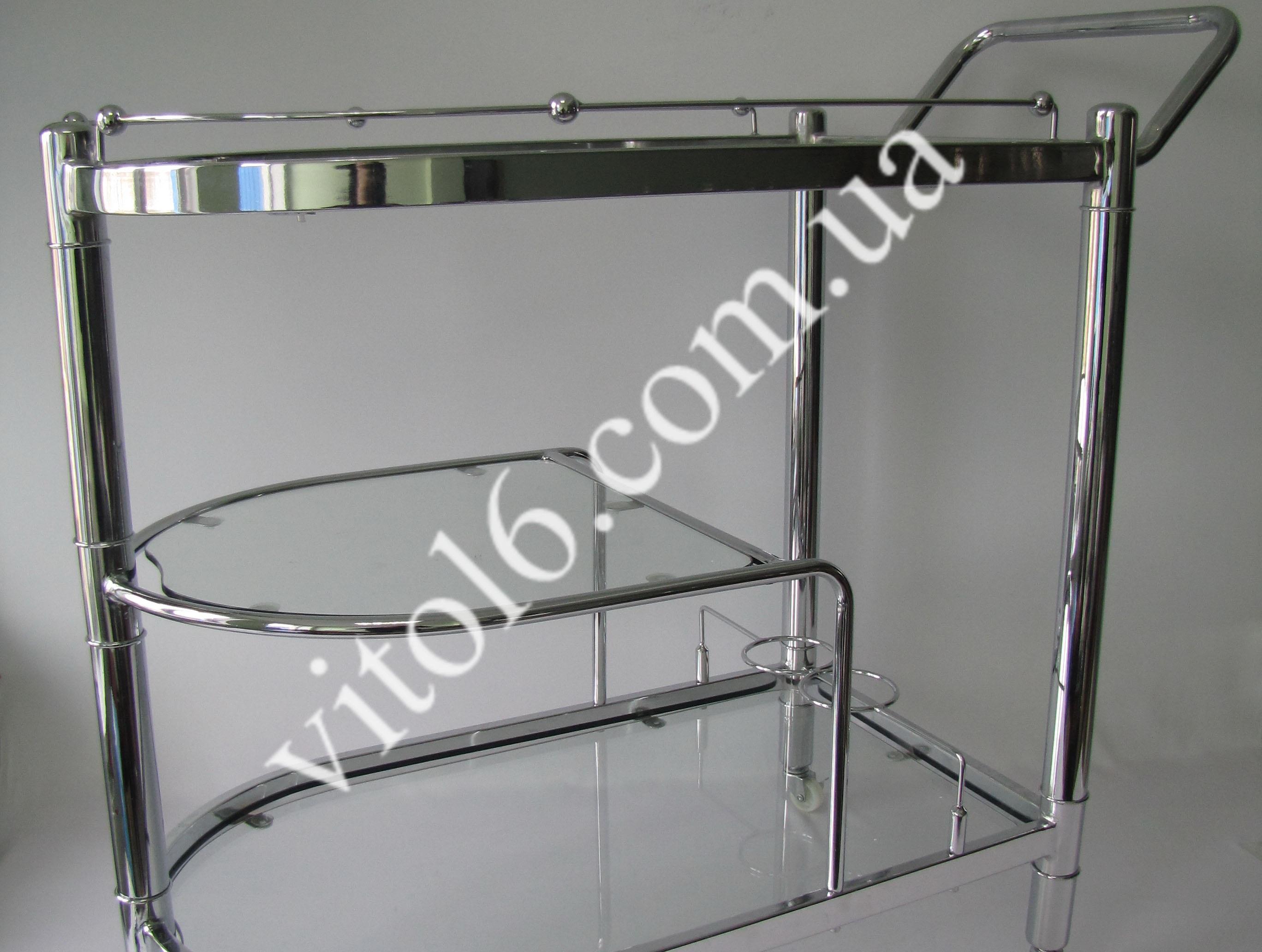Сервировочный столик  D-79В серебро