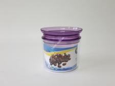 Емкость для сыпучих с резинкой 0,5л  SA-760 (24шт)